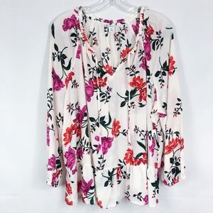 ! Old Navy | NWT Floral Boho Peasant Top in White